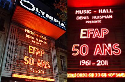 Actu EFAP - L' EFAP fête ses 50 ans à l'Olympia!