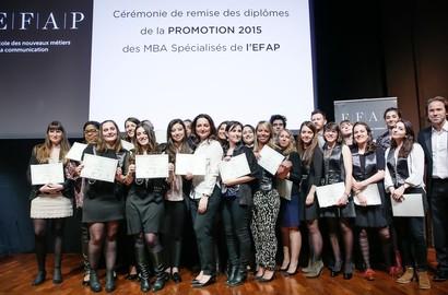 Actu EFAP - Cérémonie de Remise de Diplômes des MBA Spécialisés - Promotion 2015