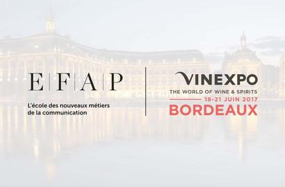 Actu EFAP - L'EFAP Partenaire du salon Vinexpo Bordeaux 2017!
