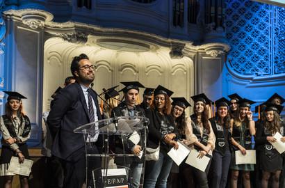 Actu EFAP - Mounir MAHJOUBI, parrain de la promotion 2017 de l'EFAP Paris