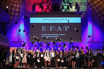 Actu EFAP - Cérémonie de remise de diplômes de la Promotion 2018 de l'EFAP Paris