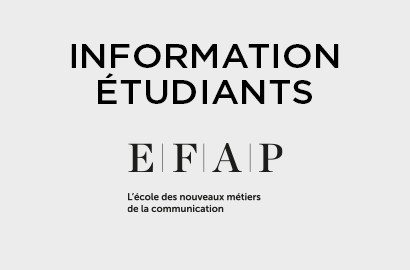 Actu EFAP - INFORMATION : Message à l'attention des Étudiants