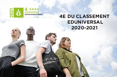 Actu EFAP - L'EFAP, classée 4e école de communication de France