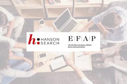 Actu EFAP - L'EFAP partenaire du cabinet Hanson Search pour accompagner les étudiants