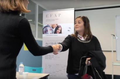 """Actu EFAP - Stage """"Dating"""" - Rencontres entreprises / étudiants"""
