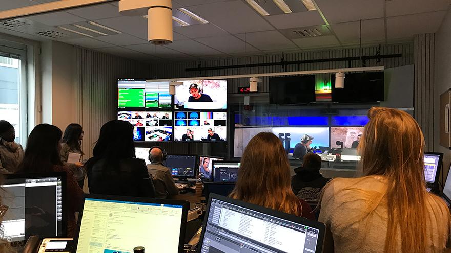 Studios RTBF - Voyage d'études Bruxelles du Master Communication Politique