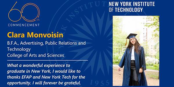 Remise de diplôme des étudiants de l'école de communication EFAP New York