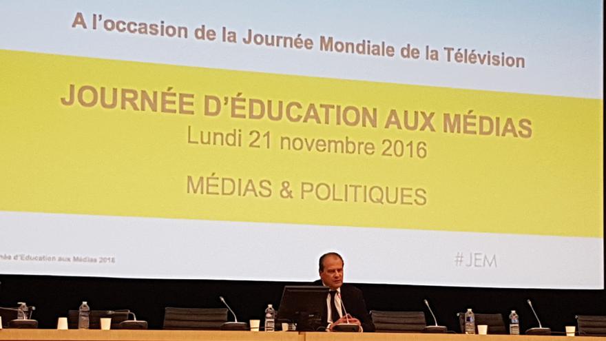 Face à la salle : Jean-Christophe Cambadélis, premier-secrétaire du Parti Socialiste