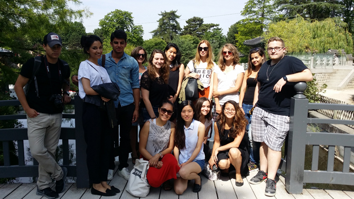 A hot afternoon in Paris, the best place to be is the Jardin d'Acclimatation with students from EFAP Communication School