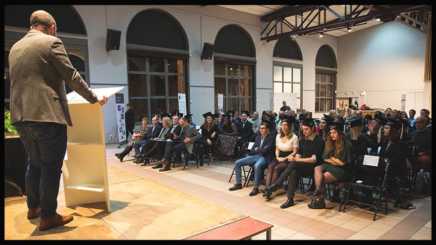 EFAP Lille - Remise de diplômes des étudiants en communication