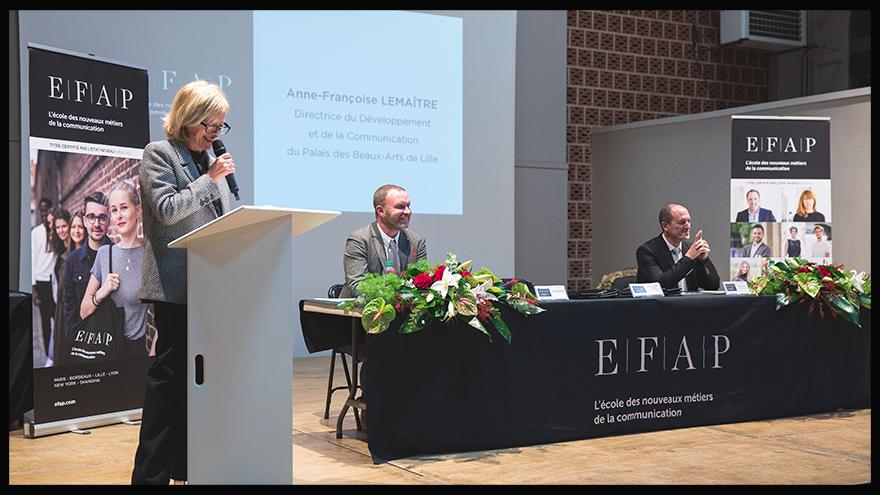 Remise de diplômes - Directrice communication du Palais des Beaux-Arts, marraine de la promotion