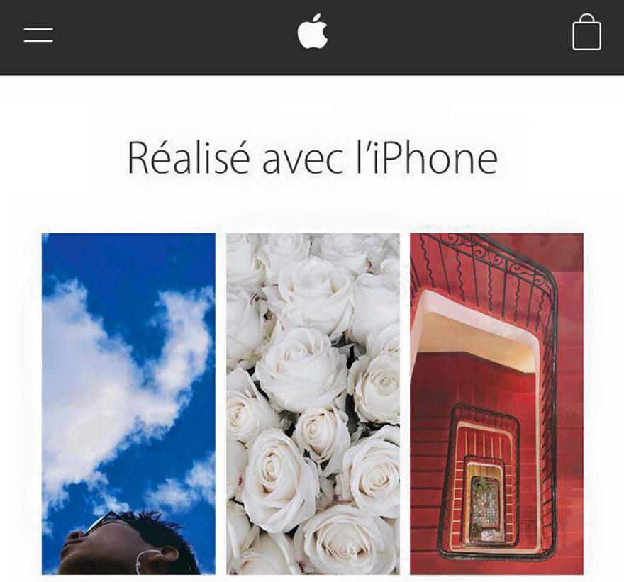 Campagne publicitaire Apple avec photo Instagram au centre de Dorian, étudiant en 3e année à l'EFAP