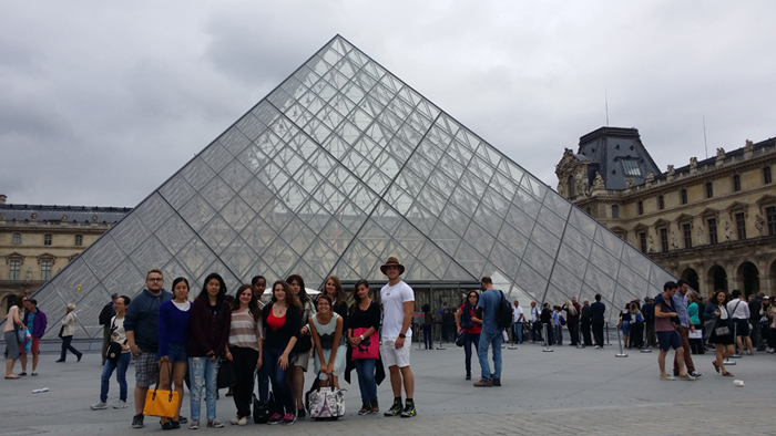 Visiting Louvre Museum - EFAP Summer School
